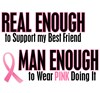 Support Breast Cancer Awareness Ribbon Tough Men
