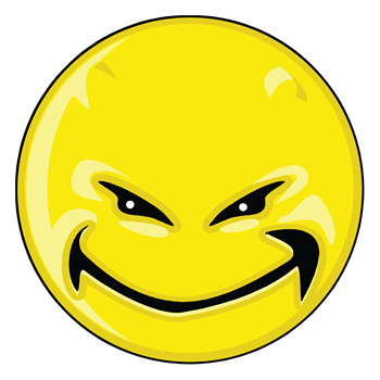 Smiley Face - Yellow Devil