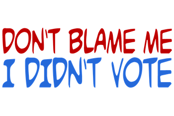 Don't Blame Me, I Didn't Vote