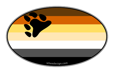 Oval Bear Pride Flag