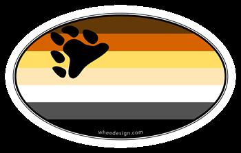 Oval Bear Pride Flag