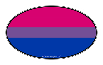 Oval Bi-Sexual Pride Flag