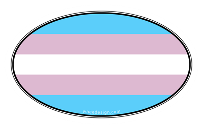 Oval Transgender Pride Flag
