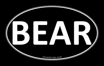 BEAR Black Euro Oval
