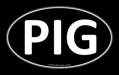 PIG Black Euro Oval