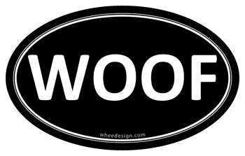 WOOF Black Euro Oval
