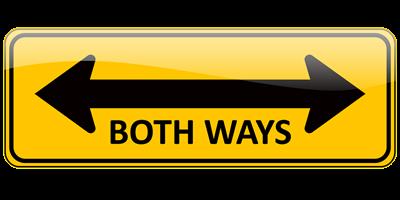 Both Ways Sign