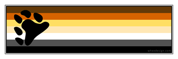 Bear Pride Flag Bumper Sticker