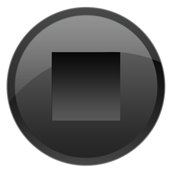 Black Stop Button