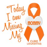 Support Leukemia Awareness Ribbon Miss Missing