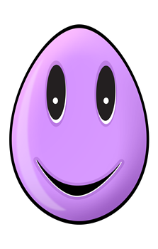 Purple Easter Egg