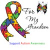 I Wear Autism Ribbon My Grandson