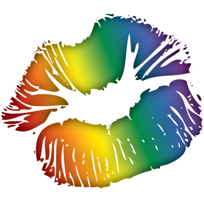 Rainbow Lipstick Lesbian