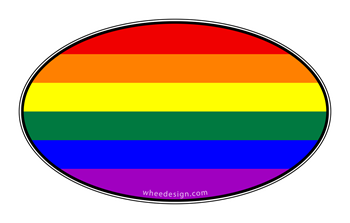 Oval Rainbow Pride