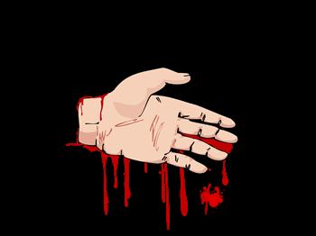 Nice Hand Job - Dexter - Bloody Hand