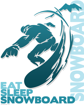 Eat Sleep Snowboard