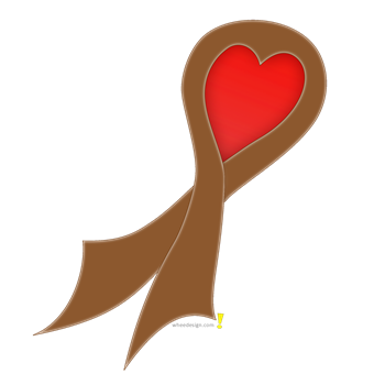 Brown Ribbon with Heart