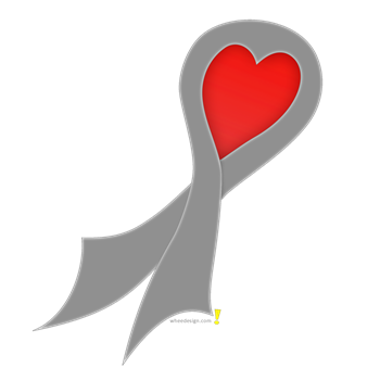 Gray Ribbon with Heart