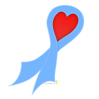 Light Blue Ribbon with Heart
