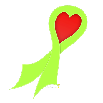 Lime Green Ribbon with Heart