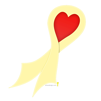 Pale Yellow Ribbon with Heart