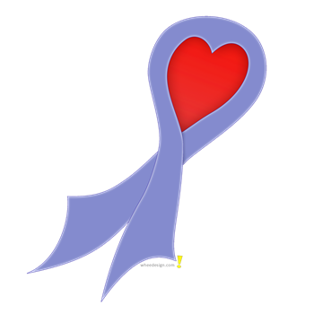 Periwinkle Ribbon with Heart