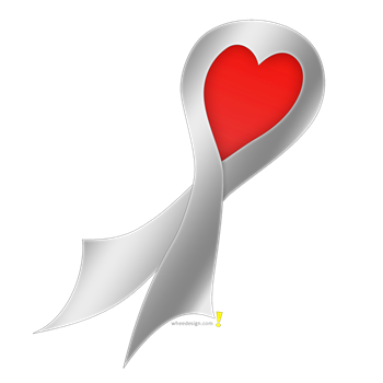 Silver Ribbon with Heart