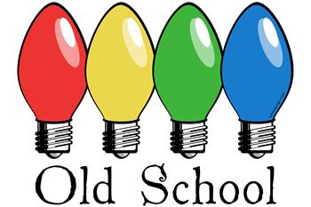 Old School Christmas Lights Men's Dark Pajamas - Whee! Design