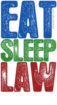 Primary Color EAT SLEEP LAW