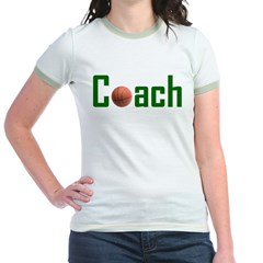 Basketball Coach Green Jr. Ringer T-Shirt