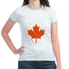 Canadian Maple Leaf Jr. Ringer T-Shirt