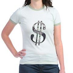 US Dollar Sign | Jr. Ringer T-Shirt