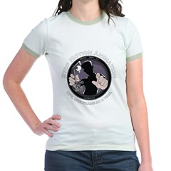 Stop Motion Animation Women's Black Jr. Ringer T-Shirt