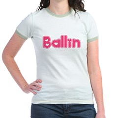 Ballin for Girls Jr. Ringer T-Shirt