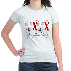 Frenchie Kisses OXOX Jr. Ringer T-Shirt