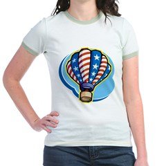 Hot Air Balloon Jr. Ringer T-Shirt