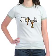Proud to be Catholic Jr. Ringer T-Shirt