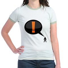 exclamation-dark Jr. Ringer T-Shirt