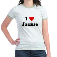 I Love Jackie Jr. Ringer T-Shirt