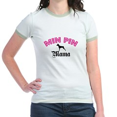 Min Pin Mama Jr. Ringer T-Shirt