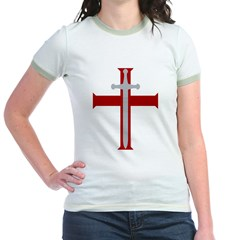Crusader Sword Jr. Ringer T-Shirt