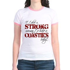 Strong woman (Coastie) Jr. Ringer T-Shirt