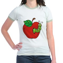Wormy Apple Jr. Ringer T-Shirt