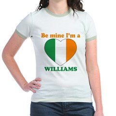 Williams, Valentine's Day Jr. Ringer T-Shirt