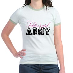 Soldier's girl Jr. Ringer T-Shirt
