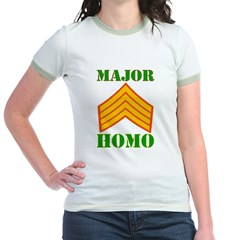 Major Homo Jr. Ringer T-Shirt