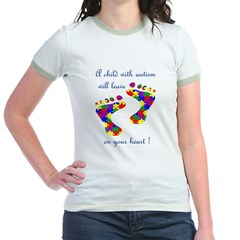 Footprints on your heart Jr. Ringer T-Shirt