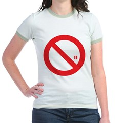 Classic No Smoking Jr. Ringer T-Shirt