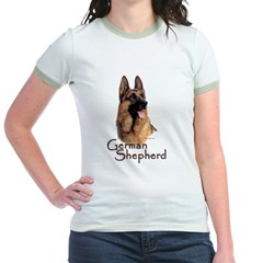 German Shepherd Dog-1 Jr. Ringer T-Shirt