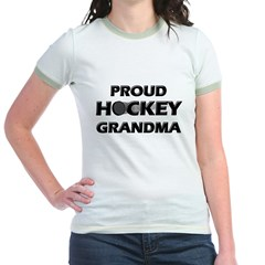 Proud Hockey Grandma Jr. Ringer T-Shirt